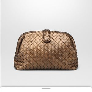 Bottega Veneta Lauren 1980 Clutch Dark Gold
